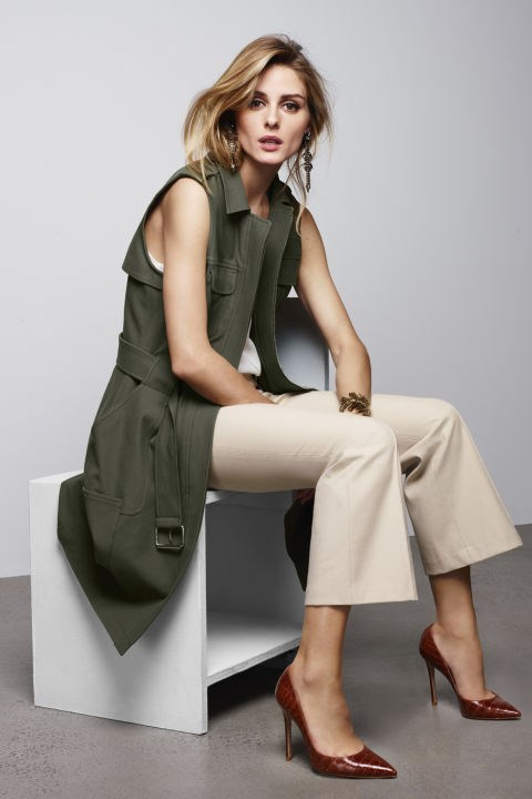 All about the sleeveless trench.