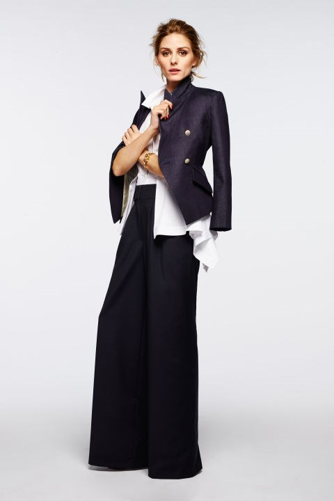 Updated business chic with ultra-wide leg pants.