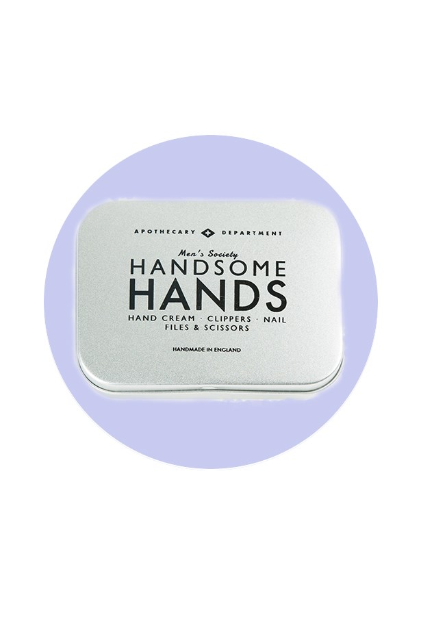 <strong>Men's Society</strong> <br><br>Mixing quirky labels with practical kits, Men's Society combines both in pocket-sized tins for a gift he'll have a giggle at, but love deep down. <br><br>Go-to product: the man-friendly manicure kit <br><br>While he may not be ready for a full-fledged trip to the salon, overgrown nails are cute on no man. There's even a discreet tin of hand cream to keep his mitts pampered and moisturised. <br><br>Handsome Hands Manicure Kit, $35, Men's Society, petersofkensington.com.au