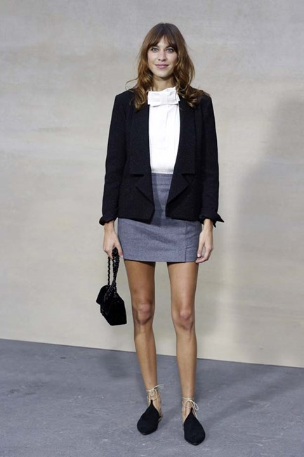 Alexa poses at a Chanel fashion show, we love the flats.