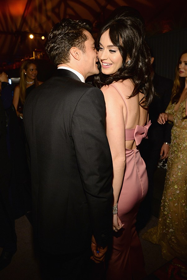 Katy Perry and Orlando Bloom at The Golden Globes After Party
