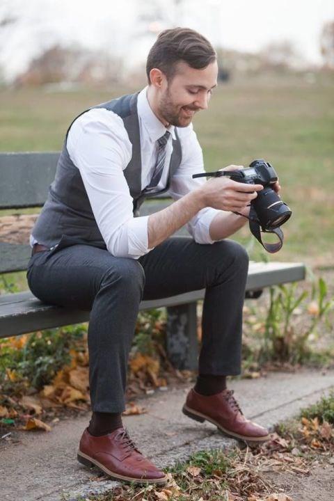 Instagram husband Johnny Wolf Flytographer