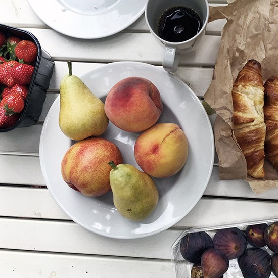 We ate: fresh fruit from the market and croissants from our local boulangerie.