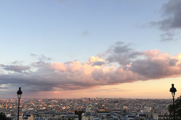 We saw: the sunset over Paris from the steps at the Sacré-Cœur. Au revoir!