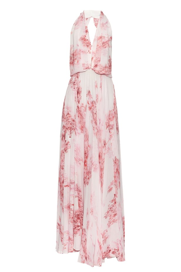 "Camilla and Marc Ruby Lane floral-print backless gown, $846, <a href=""http://www.matchesfashion.com/au/products/Camilla-and-Marc-Ruby-Lane-floral-print-backless-gown--1034626 "">Matches Fashion</a>."
