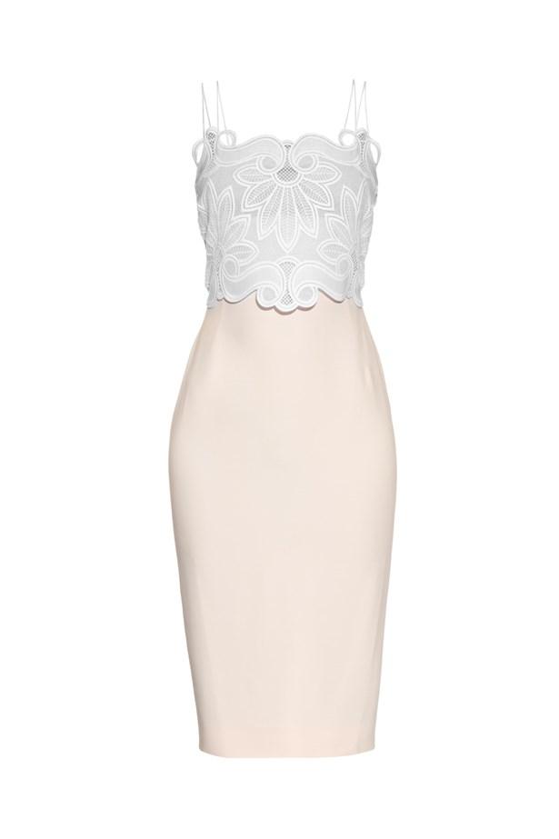 "Antonio Berardi Macramé-lace and crepe midi dress, $3,167, <a href=""http://www.matchesfashion.com/au/products/Antonio-Berardi-Macram%C3%A9-lace-and-crepe-midi-dress-1035220"">Matches Fashion</a>."