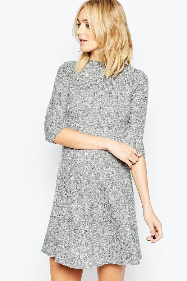 ASOS grey Maternity dress.