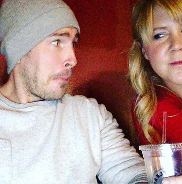 Amy Schumer did a movie night VDay with her boyfriend, Ben Hanisch.