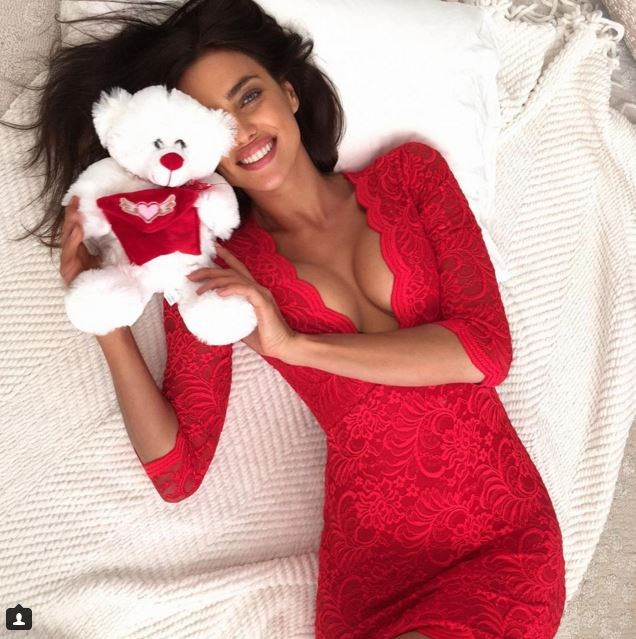 So Irina Shayk didn't get the bear from her boyfriend, but we're willing to bet that what she got from Bradley Cooper was way, way better.