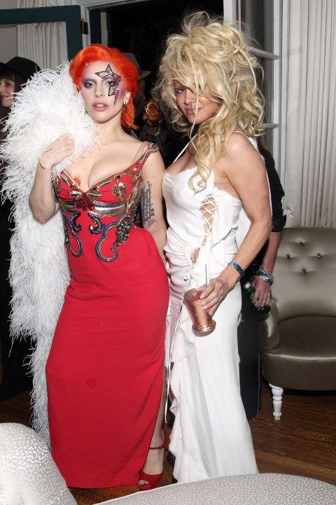 Lady Gaga and Pamela Anderson.