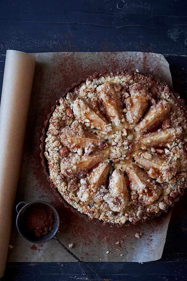 Pear, Chocolate And Ricotta Tart