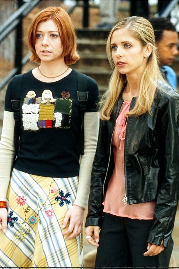 Sarah Michelle Gellar and Alyson Hannigan on Buffy.