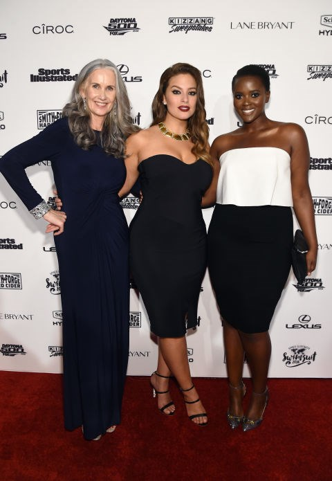 Nicola Griffin, Ashley Graham and Philomena Kwao.