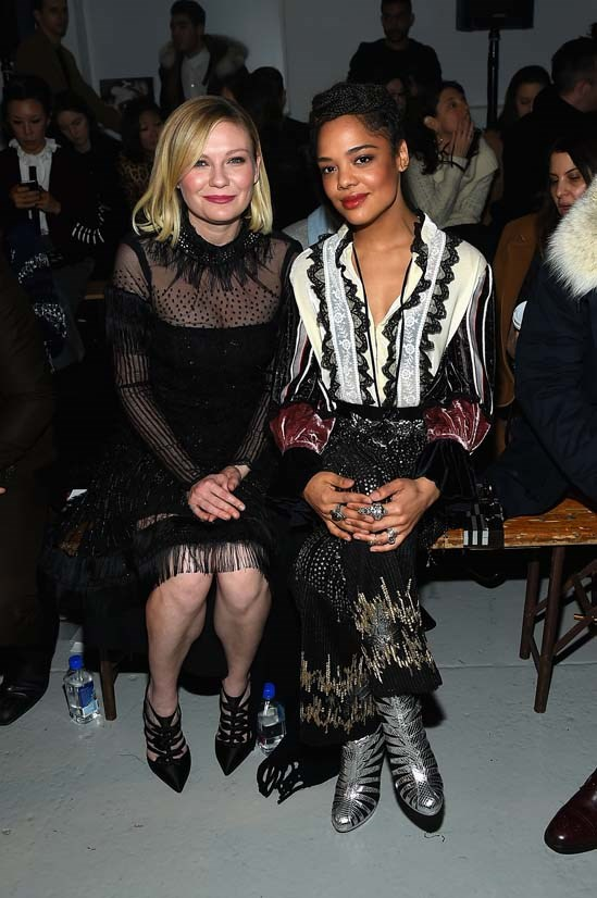 Kristen Dunst and Tessa Thompson at Rodarte AW16