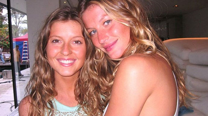 <p><strong>Gisele and Patricia Bundchen</strong></p> <p>Gisele's and her twin sister Patricia grew up attached to the hip. They also have four other sisters: Raquel, Graziela, Gabriela and Rafaela.</p>