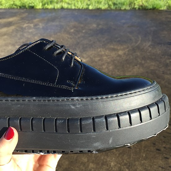 The shoe of the day - Acne Studios' take on the brothel creeper.