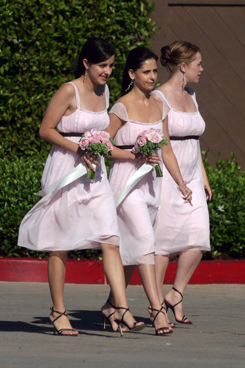 Celebrities who have played bridesmaid elle for Elle king s wedding dress