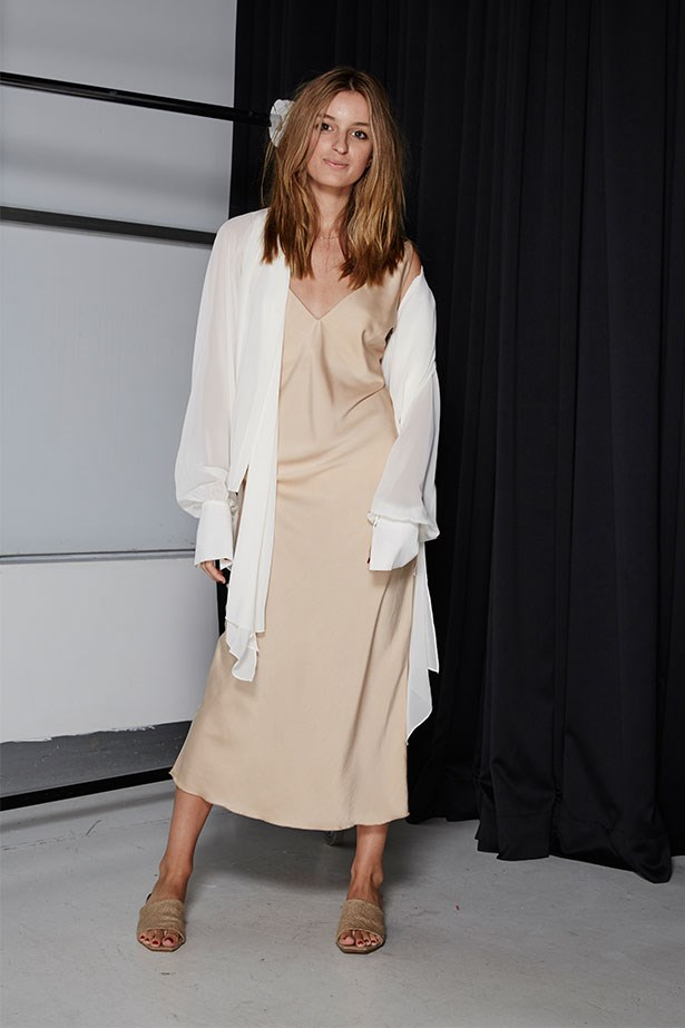 """CLAUDIA JUKIC, EDITORIAL AND FASHION NEWS COORDINATOR/PA TO JUSTINE CULLEN <p> <p> Trend: Boudoir dressing<p> <p> """"This is easily one of my favourite SS16 trends (not least because boudoir is a really underrated word). Slips, slippers and silk are just the thing to continue that weekend feeling alllllllllll week long.""""<p> <p> Shirt, $469, Carla Zampatti, carlazampatti.com.au; dress, $110, Nice Martin, nicemartin.com"""