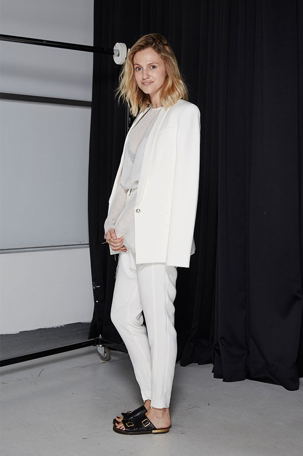 "DEE JENNER, STYLE EDITOR<p> <p> Trend: Summer suiting<p> <p> ""I'm not a complete stranger to soft tailoring; I owned a pastel pink suit a few years ago. But lately I've been moving away from structured separates (read: living lazily in jeans and a tee) and the idea of wearing all white and a drop-crotch trouser was terrifying. In reality, the pants were super comfortable and amazingly flattering. I think I might need to get a pair. Wearing with slides meant I still felt relaxed but infinitely more polished. Goodbye jeans!""<p> <p> Jacket, $649, top, $450, trousers, $380, all Camilla And Marc, camillaandmarc.com"