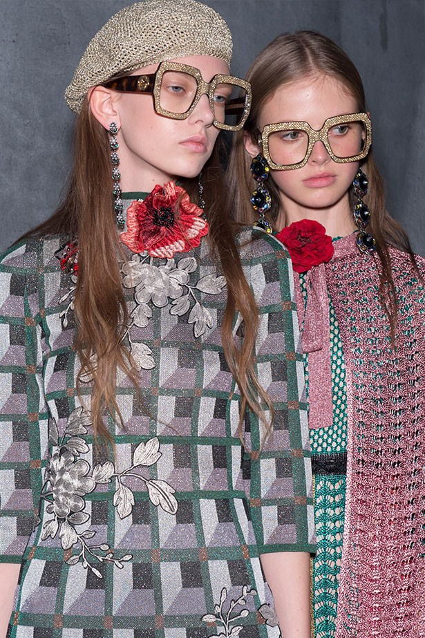 Trend: Geek-chic glasses<p> <p> Inspiration: Gucci SS16