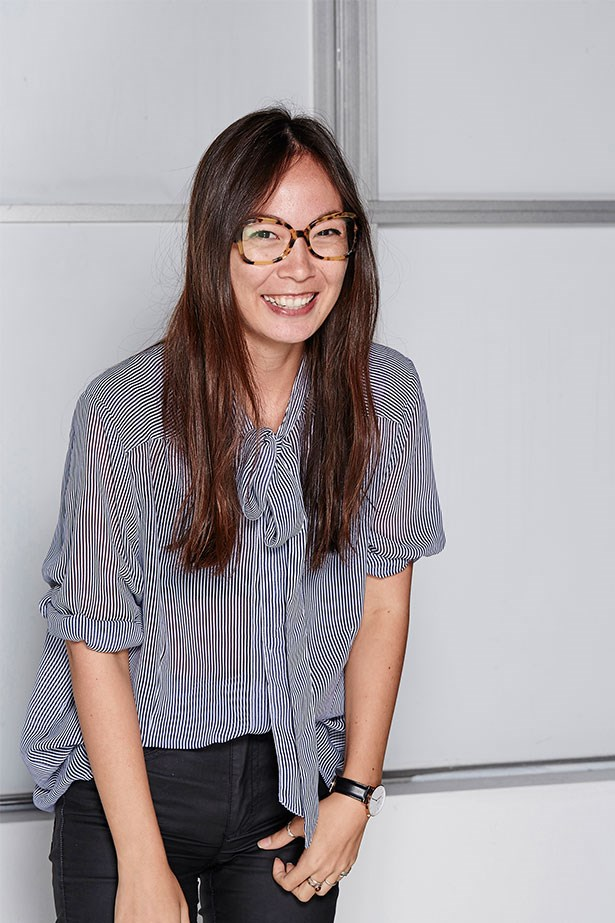 """MAHALIA CHANG, DIGITAL PRODUCER<p> <p> Trend: Geek-chic glasses<p> <p> """"Taking 'geek glasses' for a road-test thankfully wasn't a huge departure from my usual line of dressing, considering a) I am a geek, and b) I wear glasses. These frames were a slight step-up extravagancy-wise from my normal frames but it was nice to kick it up a notch.""""<p> <p> Frames, $330, Prada Eyewear, opsm.com.au"""