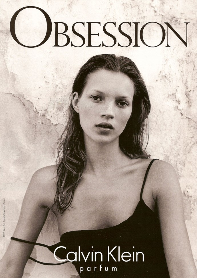 Kate Moss became an icon through her work with Calvin Klein.