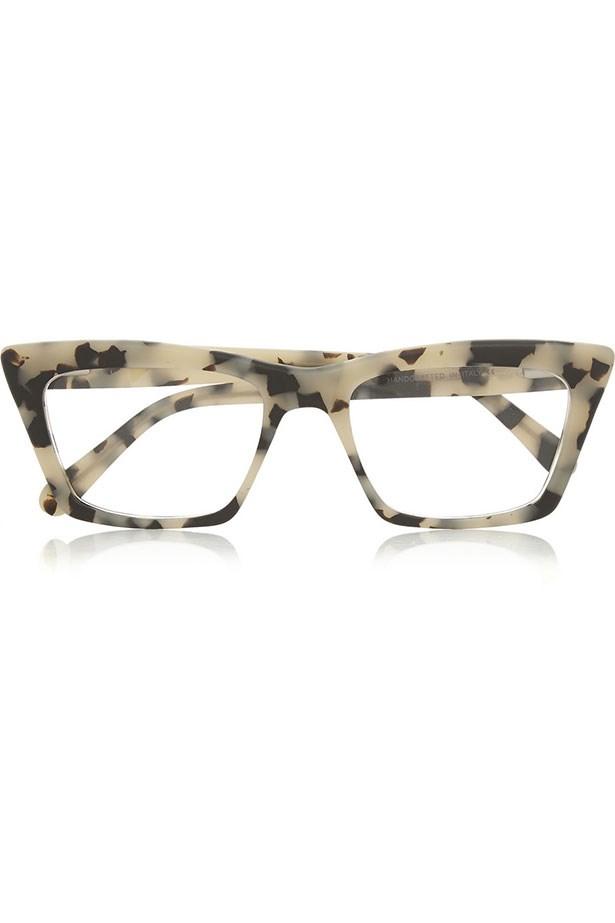 "Frames, $412, Prism, <a href=""https://www.net-a-porter.com/au/en/product/530602/Prism/seoul-matte-acetate-optical-glasses "">net-a-porter.com </a>"