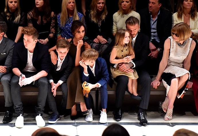 Brooklyn, Romeo, Cruz and Harper Beckham