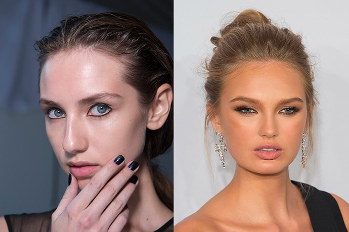 <strong>Runway Inspiration: Christopher Ræburn</strong> <br><Br> <strong>Romee Strijd</strong> dons an ethereal updo at the <strong>amFAR New York Gala.</strong>