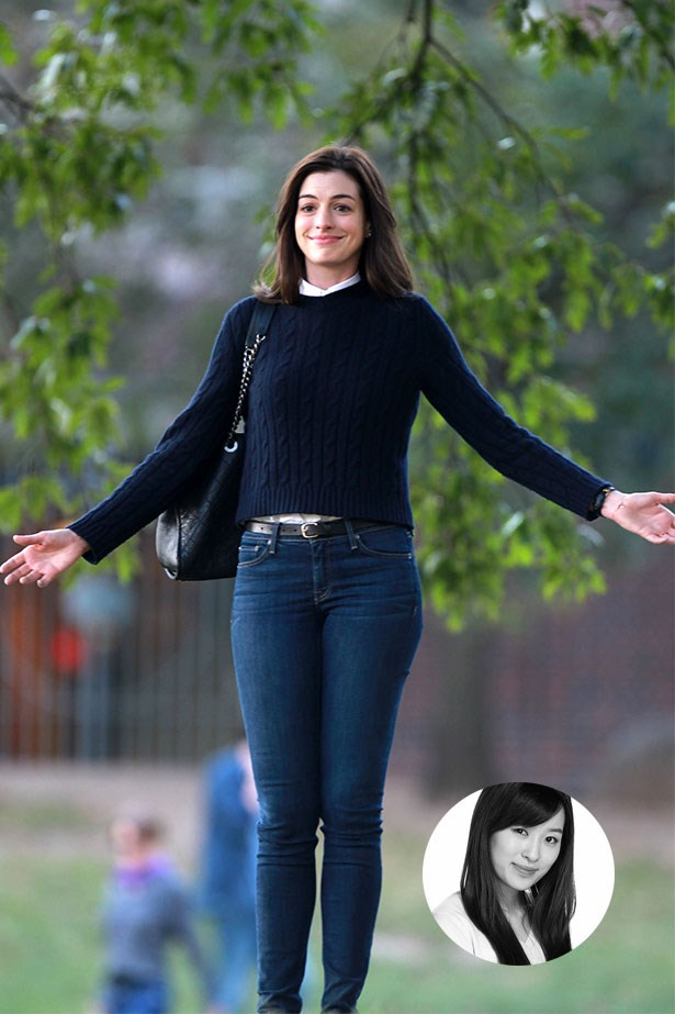 "Anne Hathaway<p> <p> ""Can't believe I'm going to commit this to the internet, but my winter style hero is none other than Anne Hathaway in <em>The Intern </em>(feel free to raise that eyebrow). But, no, really, her classic knit-and-jean combos don't involve much thinking, and while the movie wasn't set in winter, her wardrobe is perfect for Sydney's on-and-off chill."" – Jennifer Kang, Acting Deputy Chief Sub-Editor"