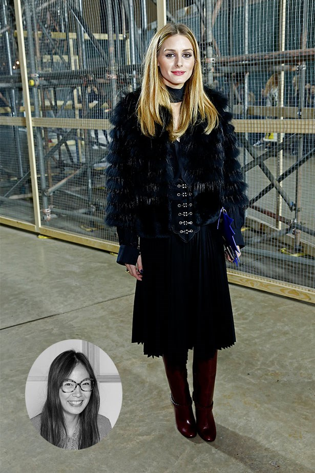 "Olivia Palermo<p> <p> ""Olivia Palermo always manages to make her bundled-up outfit look non-fussy, plus she gives great messy-but-not-messy winter hair."" – Mahalia Chang, Digital Producer"