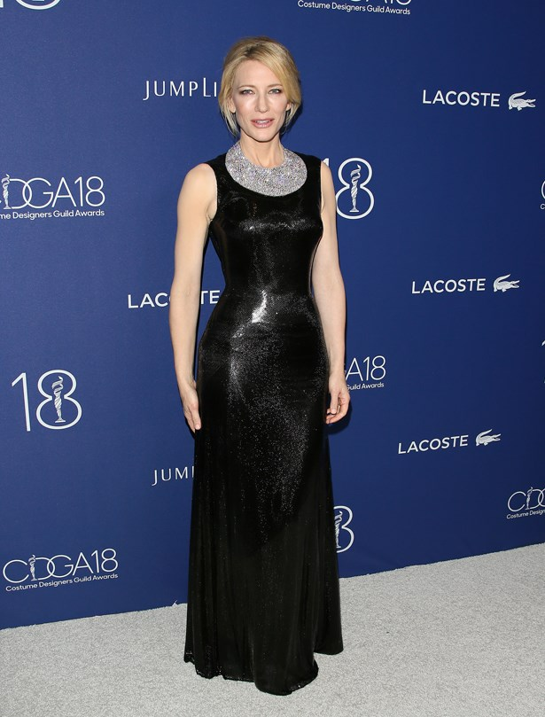 Cate Blanchett at the 2016 Costume Designers Guild Awards.