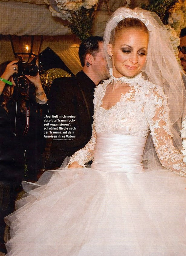 Nicole Richie's poofy gown was Grace Kelly-inspired.