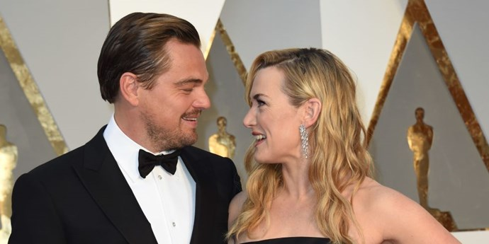 Kate Winslet and Leonardo DiCaprio at the 2016 Oscars together.