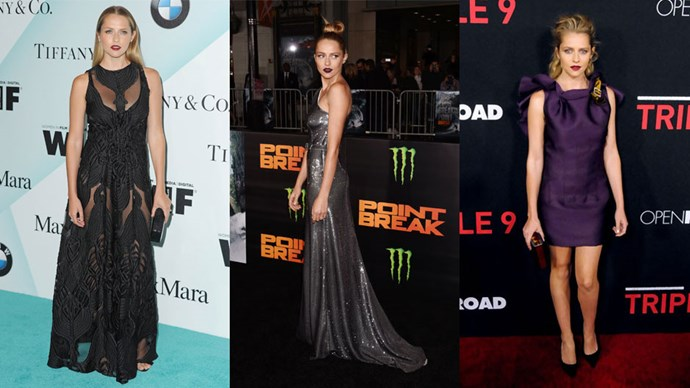 <strong>Who:</strong> Teresa Palmer <br> <strong>Signature Style:</strong> moody tones