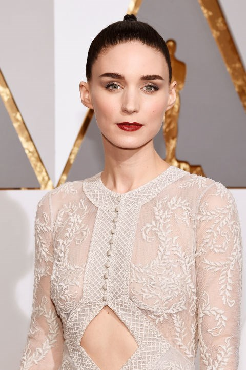 """<strong>ROONEY MARA</strong> <br><br> """"Today was quite glamorous. My life is not usually glamorous at all. But I did eat a bagel. That's probably not glamorous!"""""""