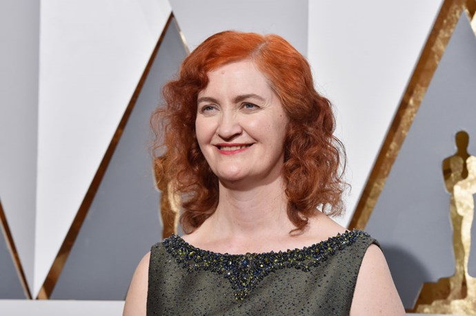 """<strong>EMMA DONOGHUE (ADAPTED SCREENPLAY, <em>ROOM</em>)</strong> <br><br> """"I was trying to eat a muffin without smearing my makeup. So I was smushing it in chunks and putting them on the back of my tongue. It did work. You have to be well-nourished before you go to these things."""""""