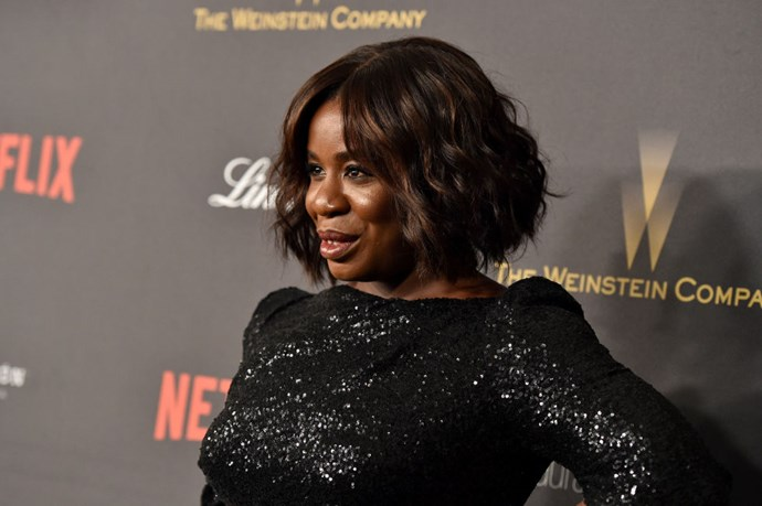 """<strong>UZO ADUBA (<em>ORANGE IS THE NEW BLACK</em>)</strong> <br><br> """"I won't say what I want to say. It was probably sitting down and watching <em>The Karate Kid</em> with my team. We were all like, 'We love this movie!' It was on TV when we were flipping through the channels."""""""
