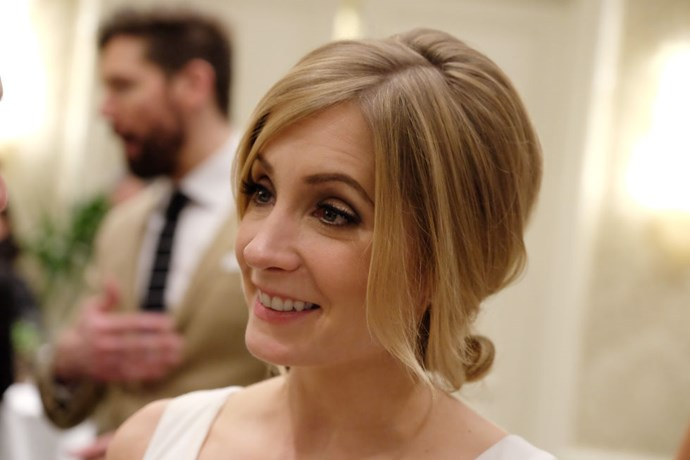 """<strong>JOANNE FROGGATT (<em>DOWNTON ABBEY</em>)</strong> <br><br> """"Taking a nap! I got about an hour. I woke up so early today because we're still on British time. So I got up, went and had breakfast, and went back to bed."""""""