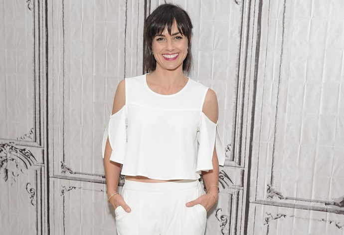 """<strong>CONSTANCE ZIMMER (<em>UNREAL</em>)</strong> <br><br> """"I did not change in between events. I wore the same outfit for all of the events. I can't pretend to be Blake Lively. I can't change in between everything."""