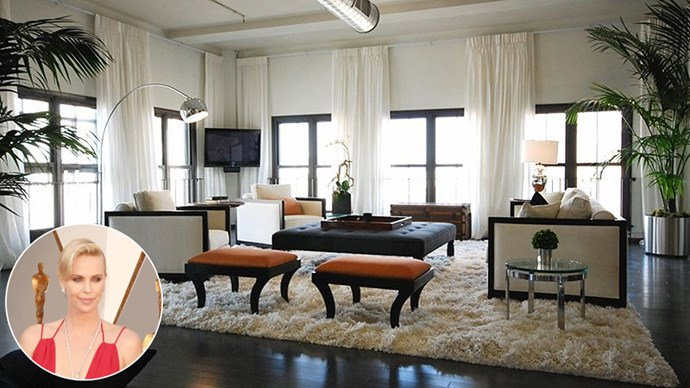Inside Charlize Theron's $2.3 million Los Angeles loft apartment.