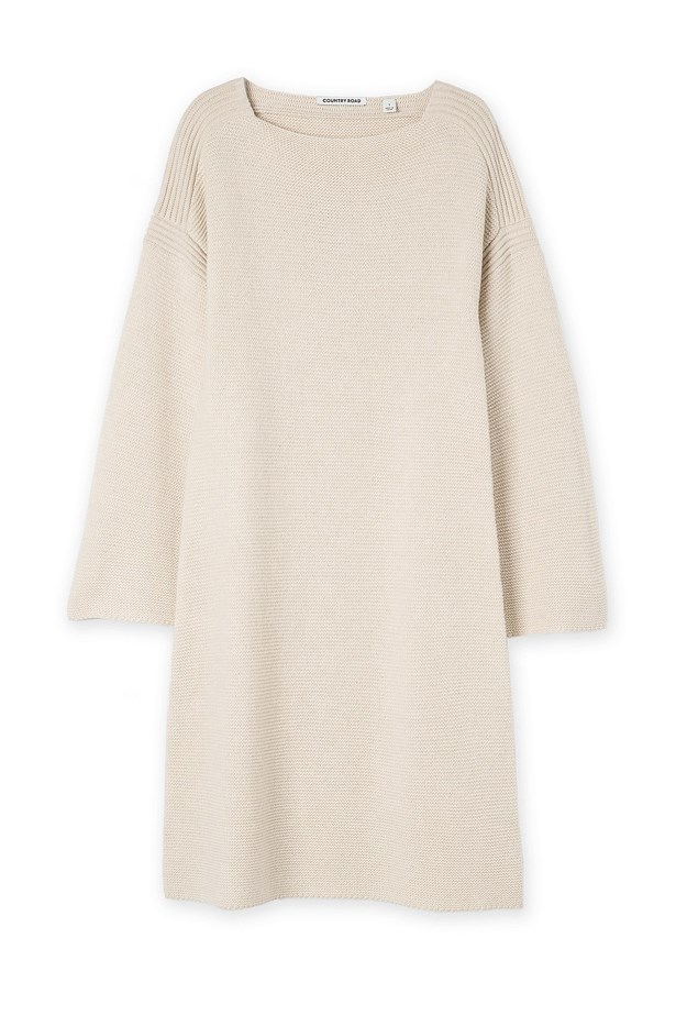 "<a href=""http://www.countryroad.com.au/shop/woman/clothing/new-in/60193479/Bell-Sleeve-Dress.html "">Dress, $149, <strong>Country Road</strong></a>"