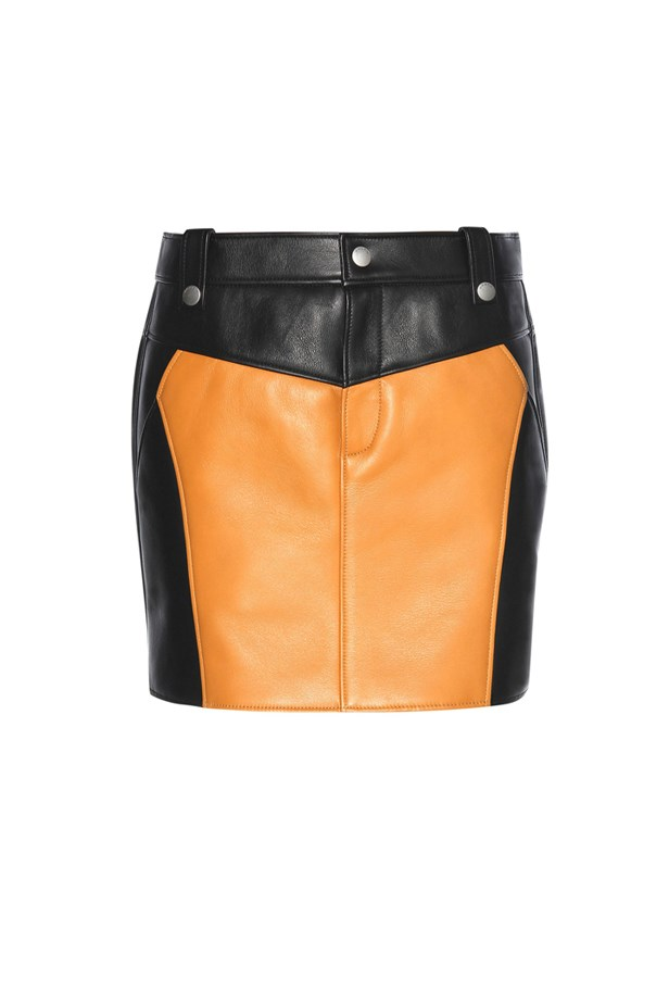 "<a href=""http://www.mytheresa.com/en-au/leather-miniskirt-566778.html?catref=category"">Skirt, $1250, <strong>Coach </strong>at mytheresa.com</a>"