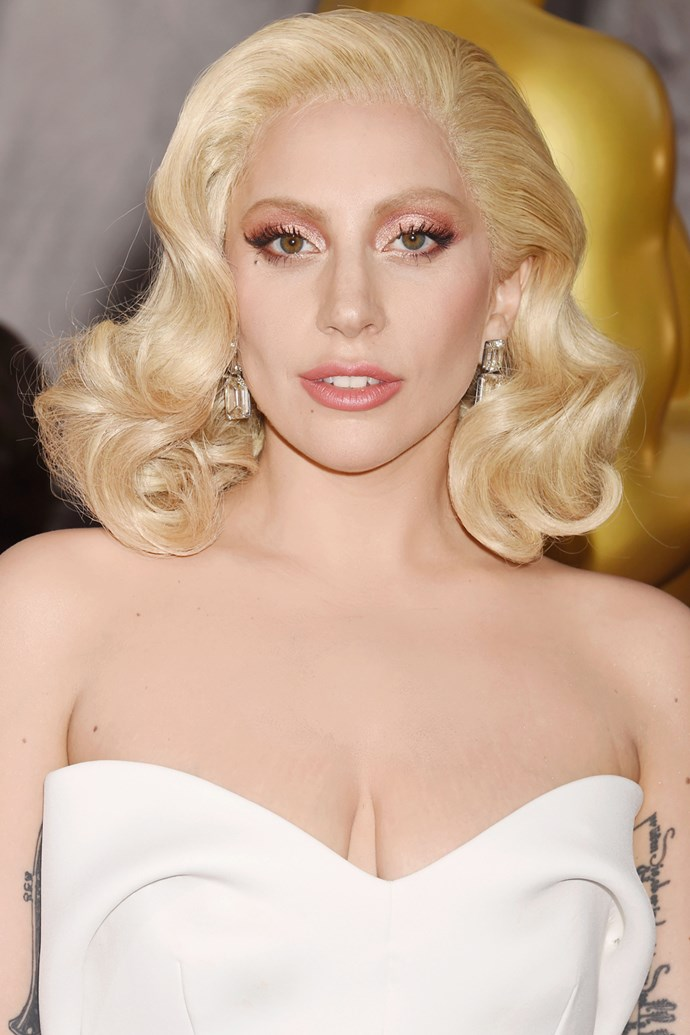 Lady Gaga on the 2016 Oscars red carpet