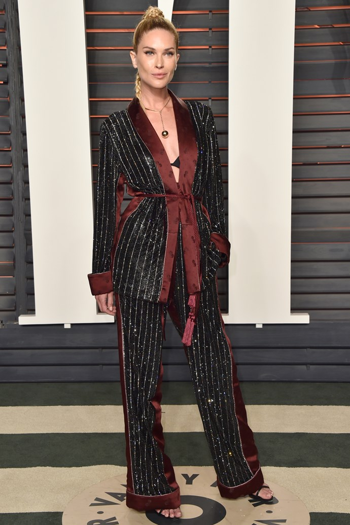 Erin Wasson at the <em>Vanity Fair </em>Oscar Party