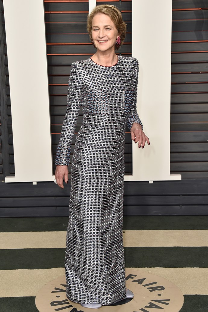 Charlotte Rampling at the Vanity Fair Oscar Party
