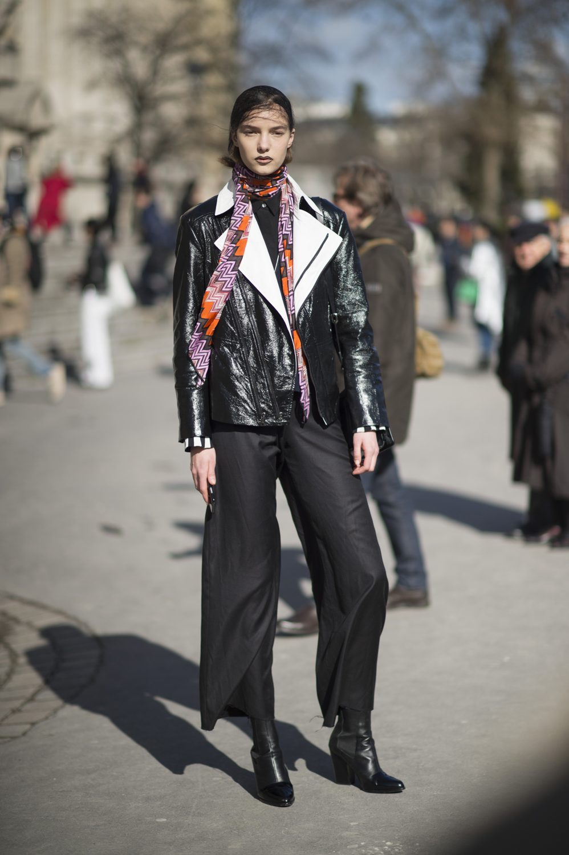 Paris Fashion Week Aw16 Street Style Elle
