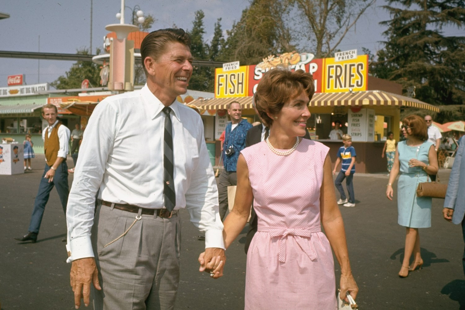 Nancy on the campaign trail with her husband.