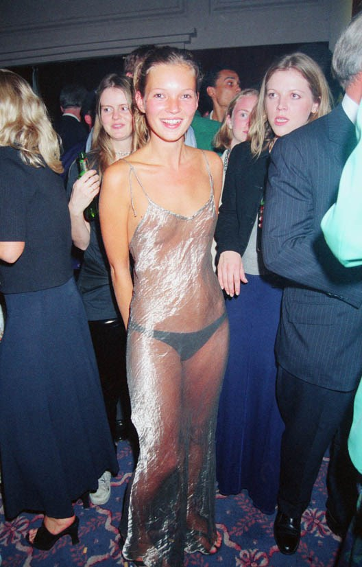 <strong>Kate Moss, September 1993</strong> <BR><BR> Elite Model Agency party for the Look of the Year Contest.