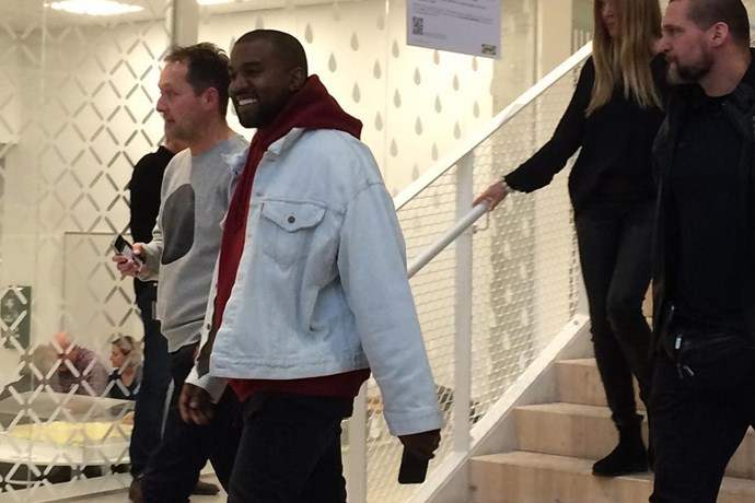 Kanye West visits IKEA